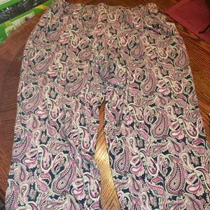 FASHION BUG Petite Pink Paisley Pajama Pants